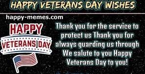 Veteran Day wishe